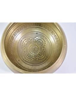 "Tibetská mísa, ""Gulpa"", gravírovaný ornament, průměr 14cm"
