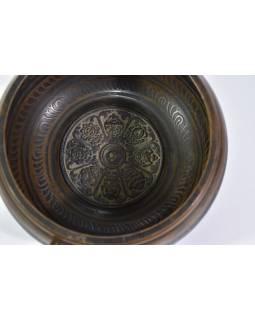 """Tibetská mísa, """"Gulpa"""", design 8 buddhistických symbolů, průměr 15cm"""