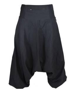 Černé turecké kalhoty s kapsou