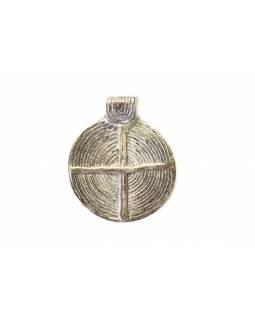 Přívěšek, bílý kov, kříž v kruhu, 4,5x5,5cm