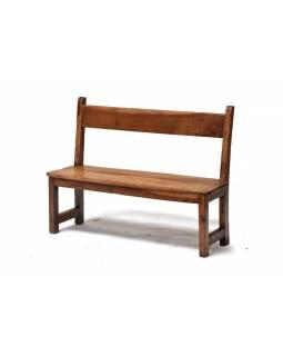 Lavička, antik, teakové dřevo, 88x30x69cm
