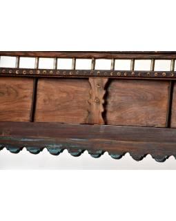 """Masivní lavice z antik teakového dřeva """"Goa"""", 124x59x93cm"""