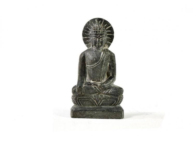 Kamenná soška, Buddha, ručně vyřezávaná, 6,5x3,5cm