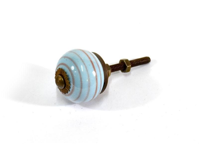 Porcelánové madlo na šuplík ,antik úprava, prům. 3cm