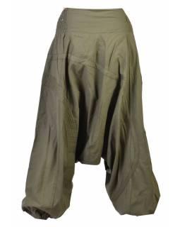 Khaki turecké kalhoty s kapsou