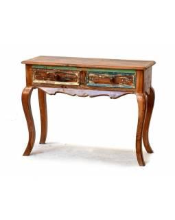 Odkládací stolek z antik teakového dřeva, 100x40x75cm