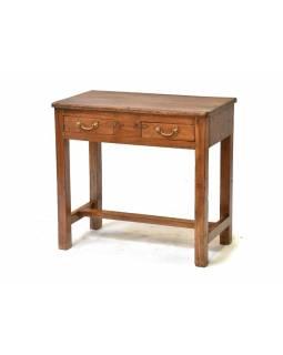Psací stolek z antik teakového dřeva, 76x37x71cm