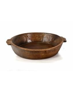 Dřevěná mísa z teakového dřeva, antik, 58x50x10cm