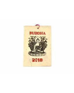 Kalendář, na rýžovém papíru,Buddha, 10x15cm