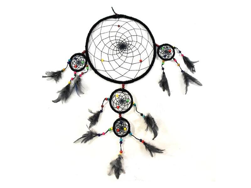 Lapač zlých snů - černý, tři nad sebou, 27x90cm