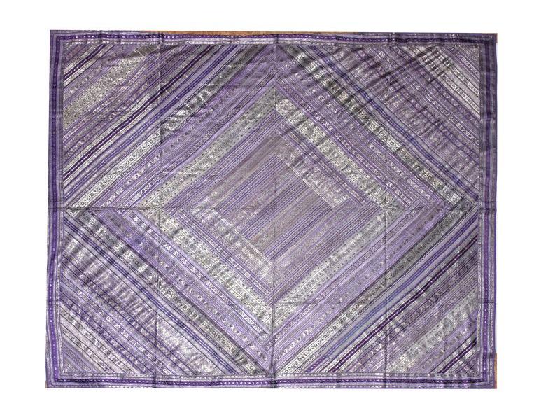 """Přehoz, """"Brocade"""", fialový, vyšívaný, 230x215cm"""