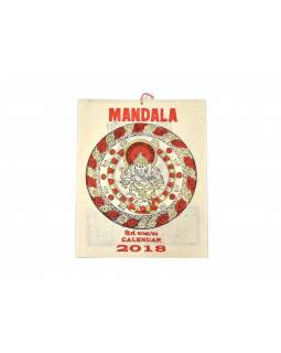 Kalendář, rýžový papír, Mandala, 23x30cm