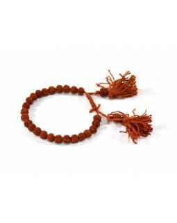 Tibetský náramek, 25 korálků průměr 6mm, stahovací, minimální obvod 18cm