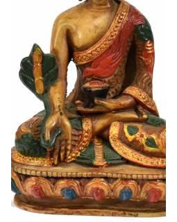 Soška Medicine Buddha, světlý, ručně malovaný, 14cm