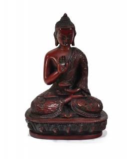 Soška Amóghasiddhi Buddha, červený, 14cm