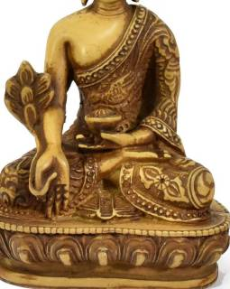 Soška Buddha léčitel (Medicine), světlý, 14cm