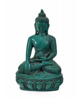 Soška Šákjamuni Buddha, tyrkysový, 17cm