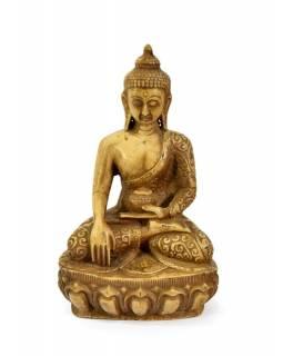 Soška Šákjamuni Buddha, světlý, 17cm