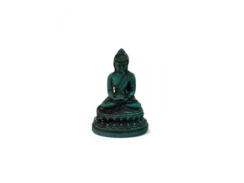 soška Buddha, mini, tyrkysový, 5,5cm