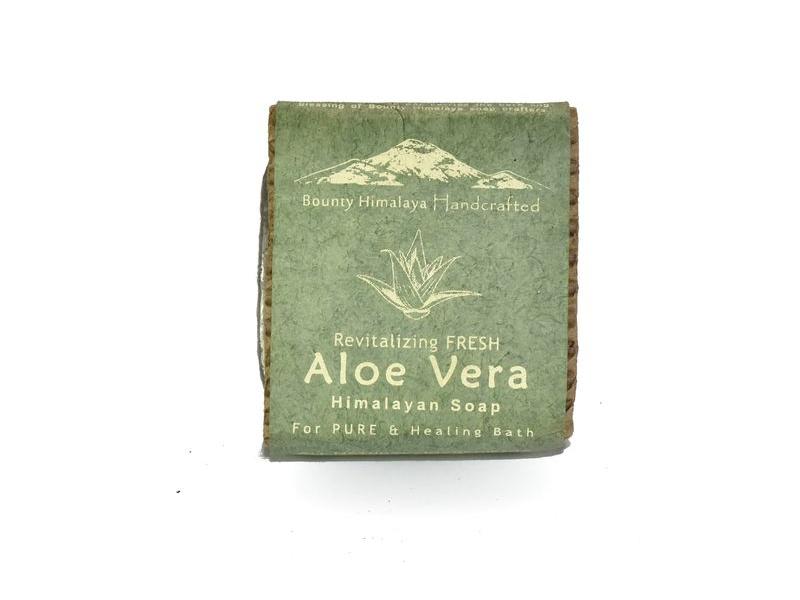 Ručně vyráběné mýdlo z Himálaje, Aloe Vera, 100g