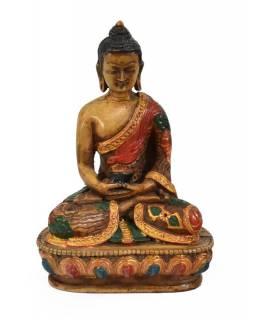 Soška Amithaba Buddha, světlý ručně malovaný, 14cm