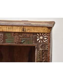 Knihovna z antik teakového dřeva, Goa design
