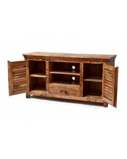 TV komoda z mangového dřeva, přírodní barva, 150x41x76cm
