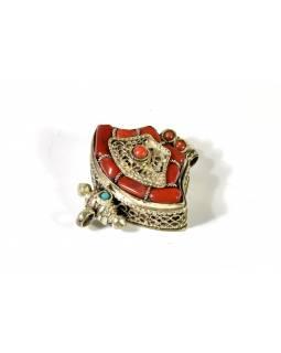 Přívěsek s kameny, alpaka, otevírací, tibetský styl