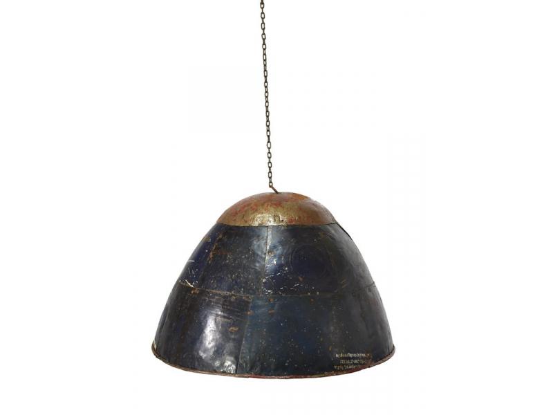 Lampa z recyklovaných plechů, ruční práce, průměr 58, výška 40cm