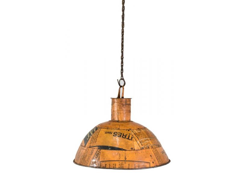 Lampa z recyklovaných plechů, ruční práce, průměr 50 výška 30cm