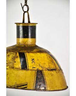 Lampa z recyklovaných plechů, ruční práce, průměr 40, výška 28cm