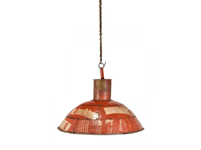 Lampa z recyklovaných plechů, ruční práce, průměr 49, výška 38cm