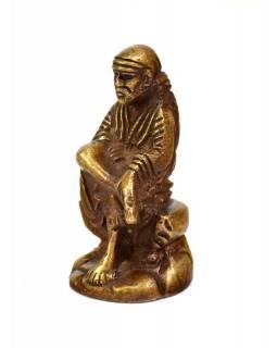 soška Sai Baba, antik patina, 3,5x3,5x7cm
