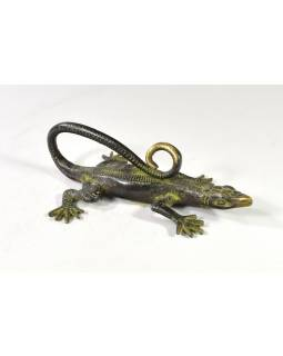 Dveřní táhlo ve tvaru ještěrky, mosaz, 26cm