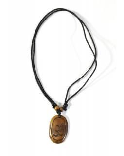 Náhrdelník s přívěskem Óm kostěný, nastavitelná délka