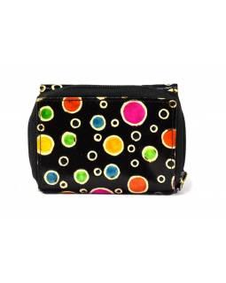 """Kožená peněženka, design ,,bubbles"""", černá, 12x9cm"""