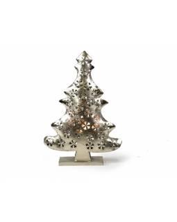 Vánoční stromek, kovový svícen, ruční práce, 46x32x10cm