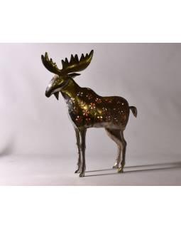 Los, kovový svícen, ruční práce, prořezávané ornamenty, výš. 65cm