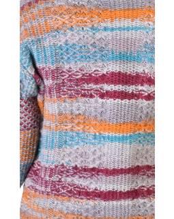 Vlněný svetr s kapucí a kapsami, unisex, mulatibarevný