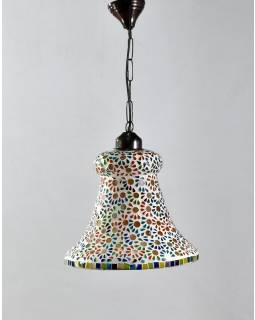 Skleněná mozaiková lampa, multibarevná, ruční práce, prům. 28cm, výs.30cm