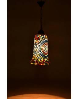 Otevřená skleněná mozaiková lampa, ruční práce, prům.20, výš.34cm