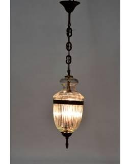 Skleněná lampa, 15x37cm