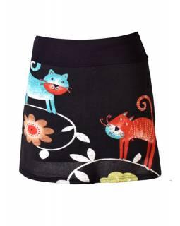 Krátká sukně s potiskem koček