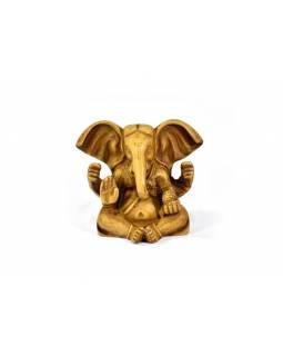 Ganesh baby sedící, světle hnědý, pryskyřice, 8cm
