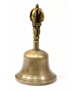 Dilbu, tibetský zvonek, antik patina, hladký, 15cm