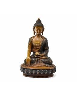 Buddha Šákjamuni, měděná soška, detailní práce, 16cm