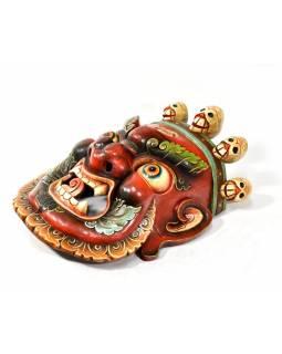 Bhairab, dřevěná maska, ručně malovaná, 63x58cm