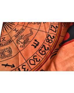 "Přehoz, ""Zodiac"" oranžový, batika, double, 210x240cm"