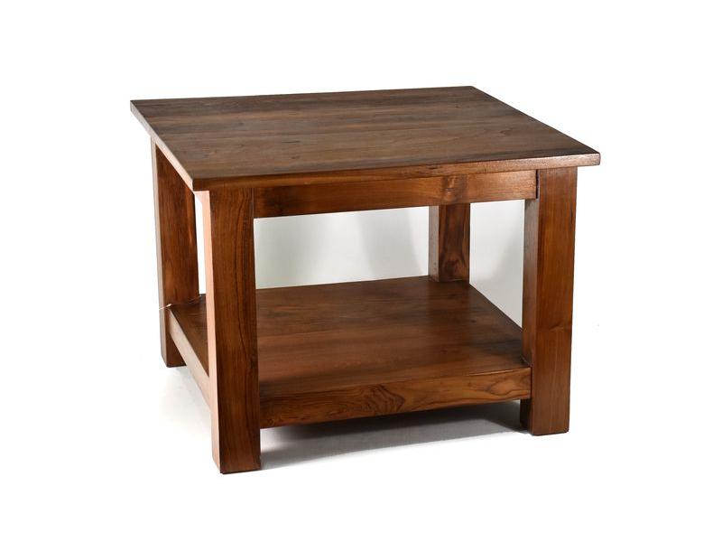 Konferenční stolek, antik teak, 60x60x45cm
