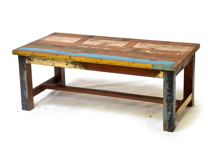 """Konferenční stolek v """"Goa"""" stylu, antik teakové dřevo, 120x60x45cm"""